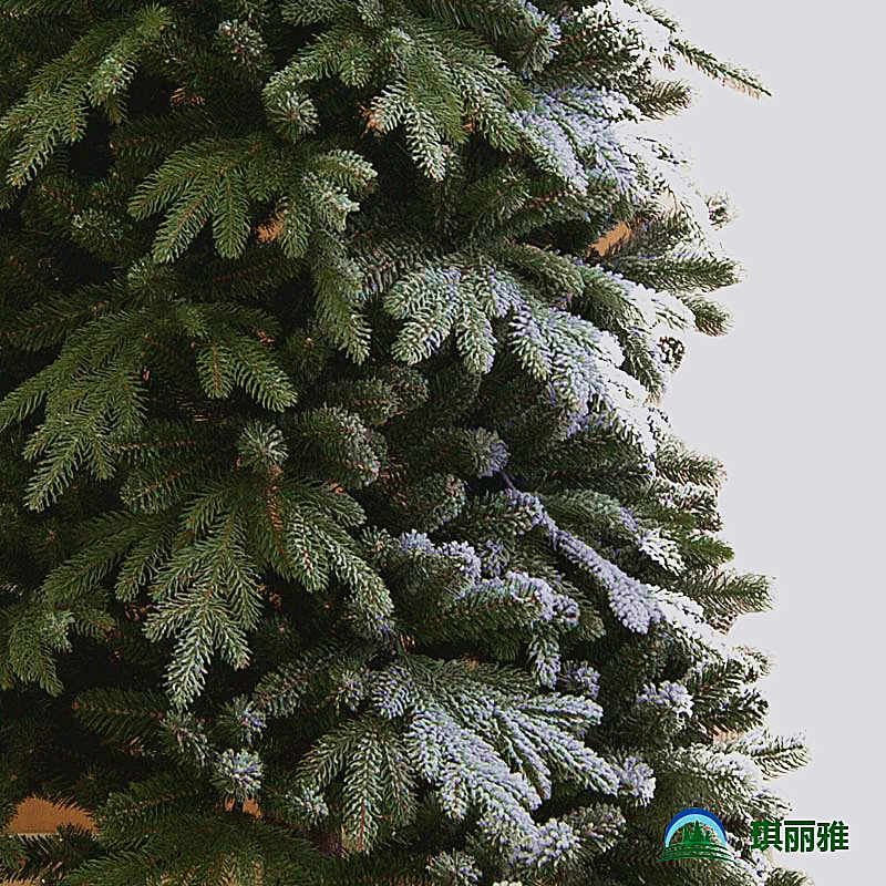 圣诞树积雪效果