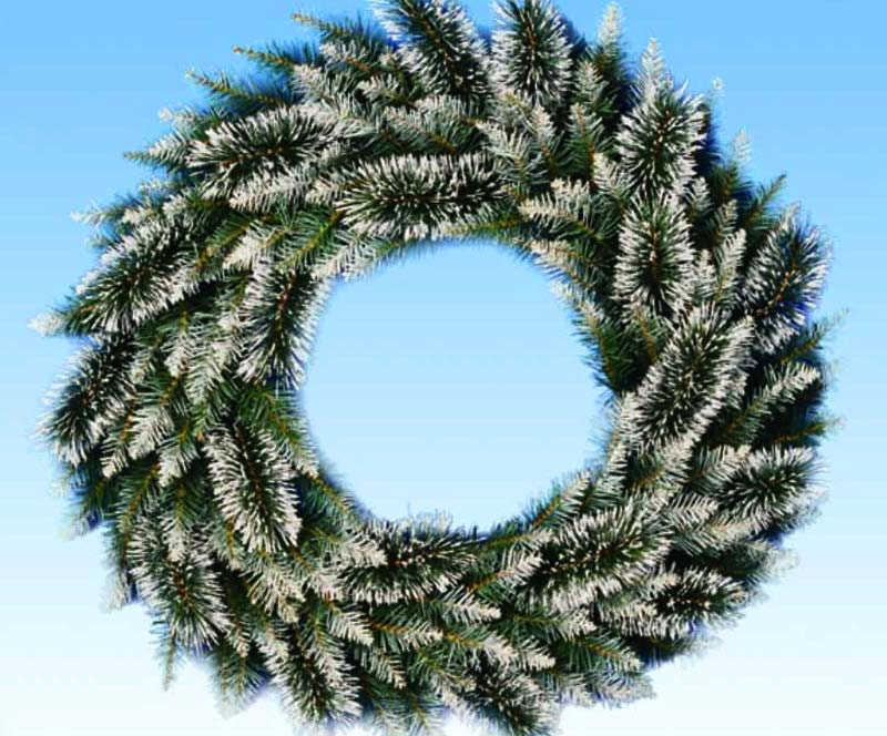 积雪效果圣诞花环