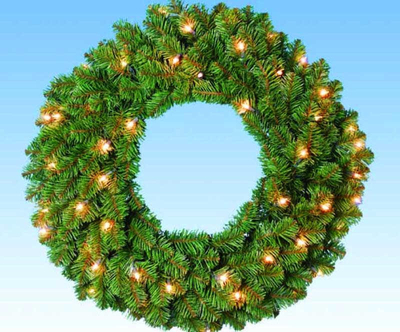 带灯圣诞花环
