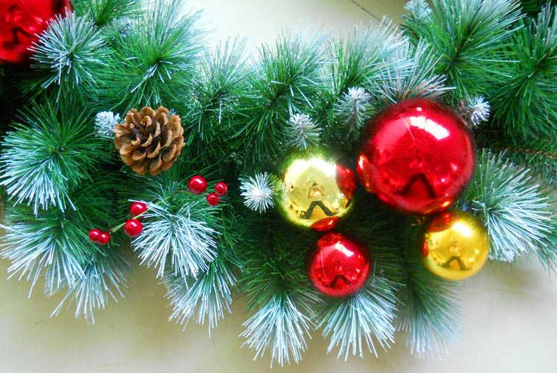 圣诞藤条装饰物