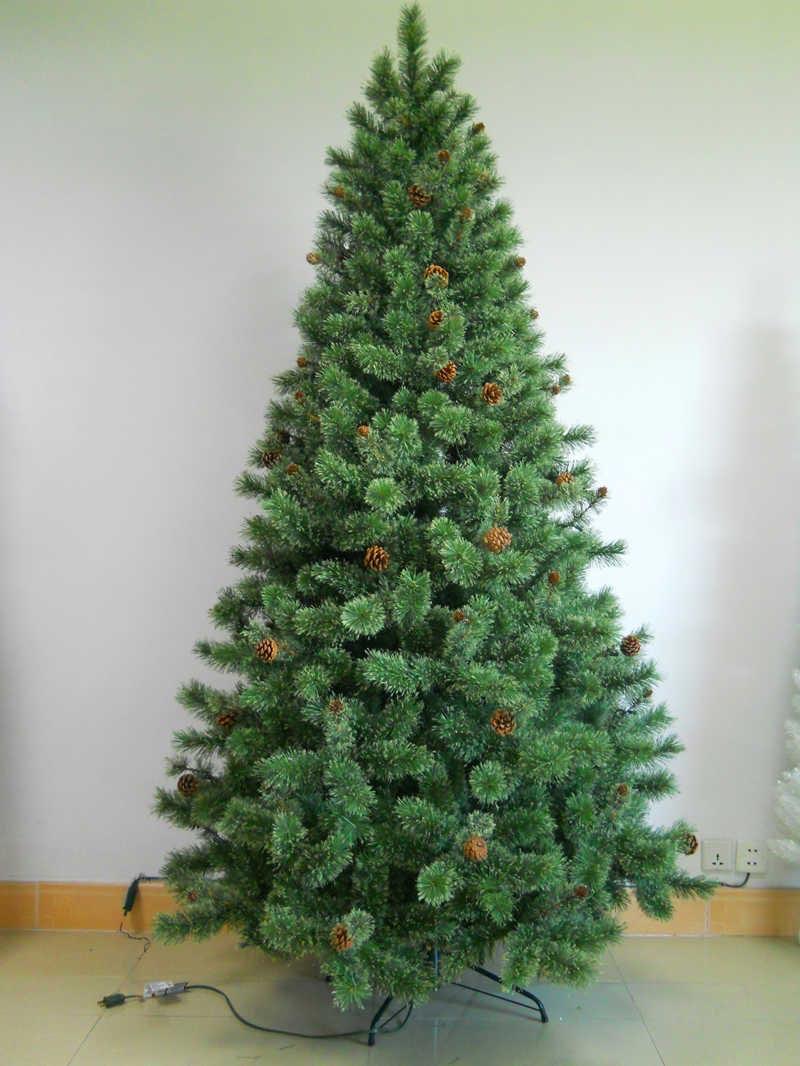 开花松针叶圣诞树样品展示
