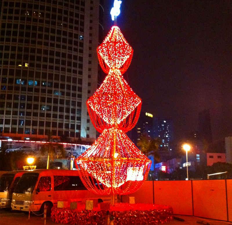 圣庭苑酒店创意圣诞树